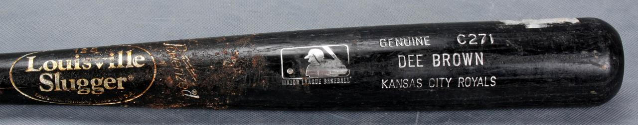 Kansas City Royals - Dee Brown Game-Used Louisville Slugger (C271) Bat