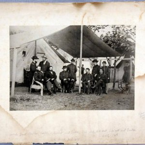 1864 Edward Bierstadt Artotype Print of Mathew Brady's Civil War Union Generals + 8 - (Featuring Grant)