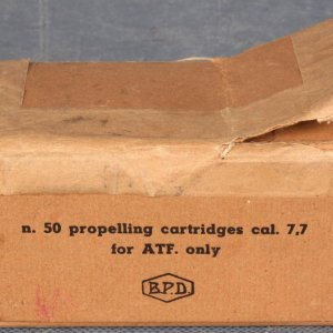 WWII  50 Propelling Cartridges Caliber 7.77 for ATF Only