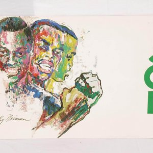 1969 Madison Square Garden - Joe Frazier vs. Jerry Quarry - Rare Media Press Kit Packet Folder Feat. Leroy Neiman Design (Futch Collection)