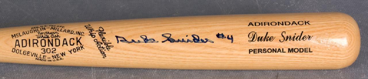 "Brooklyn Dodgers - Duke Snider Signed  ""4"" Personal Model Bat"