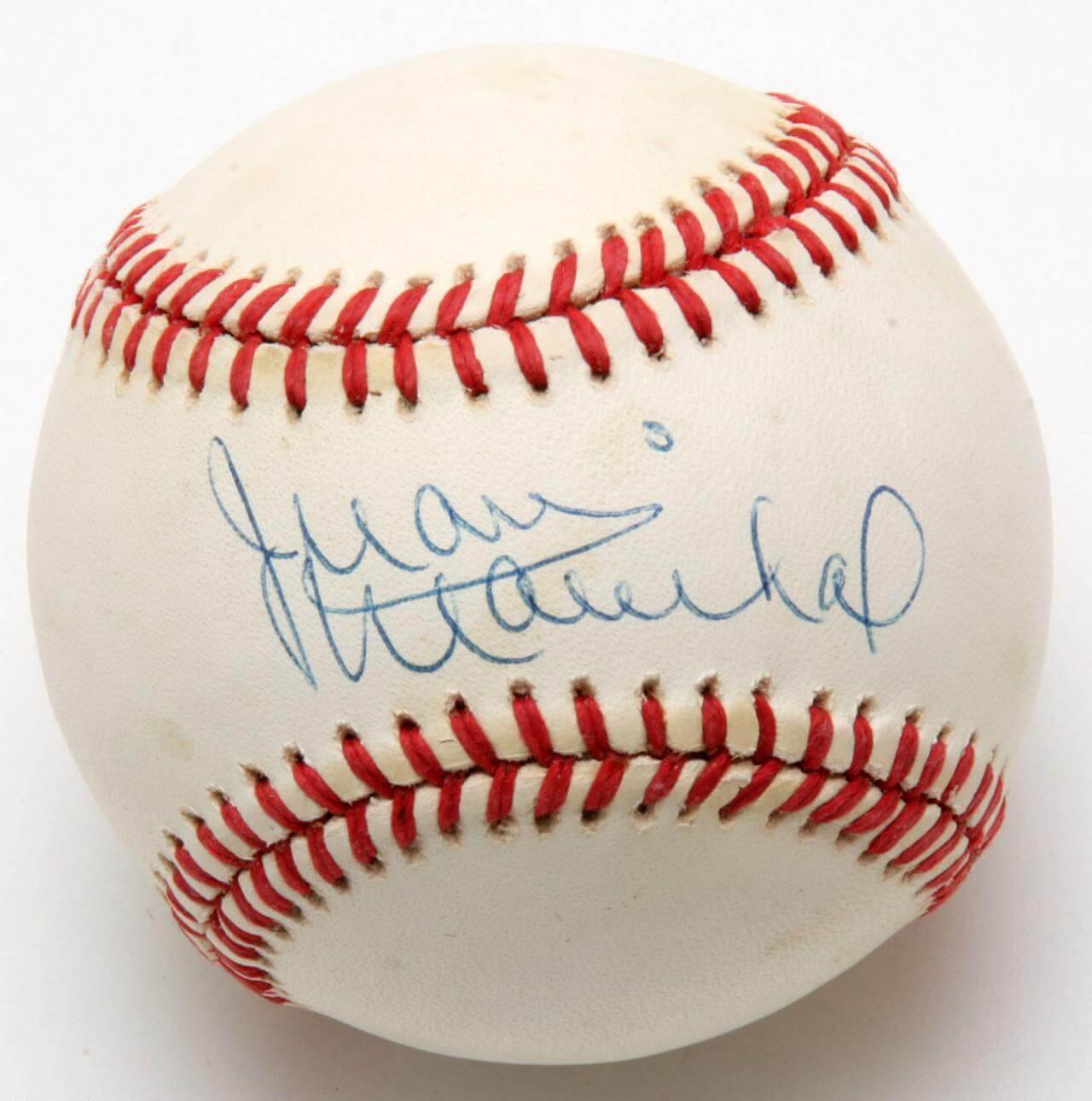 Juan Marichal Signed Baseball Giants - COA