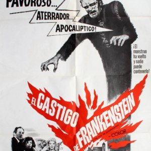 Peter Cushing The Evil Of Frankenstein Move Poster Spanish Version