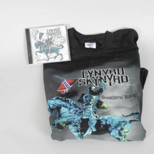 Lynyrd Skynyrd Signed CD & Concert T-Shirt - Signed by 5 Incl. Owen Hale