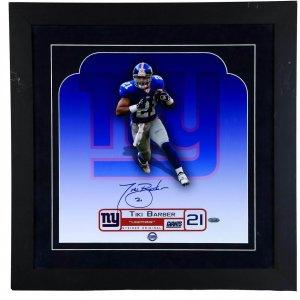 New York Giants - Tiki Barber Signed Photo Display