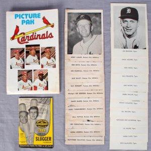 Vintage Baseball Lot - 1964 Famous Slugger Yearbook feat. Carl Yastrzemski  & (3) Team Picture Packs - 1961 KC Athletics