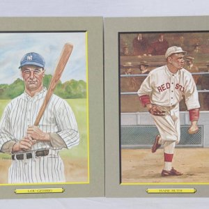 Perez Steele Great Moments Lot Babe Ruth & Lou Gehrig