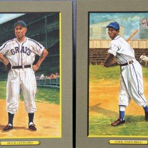 Negro Leagues - Cool Papa Bell & Buck Leonard Unsigned Perez Steele Cards