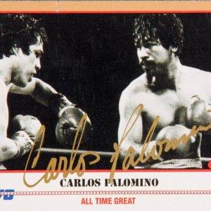 Carlos Palomino Signed Kayo Card