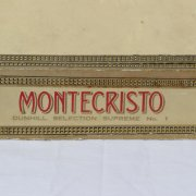 Pre-Embargo Pre -Castro Monte Cristo Habana Dinhill Selection Supreme No 1 Hand Made In C .u. b. a. Box