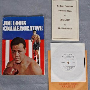 Joe Louis Commemorative For Joe Louis 57th Birthday May 14,1971 + 33 1/3 RPM Louis Knocks Out Schmeling Caesars Palace Las Vegas, Nevada
