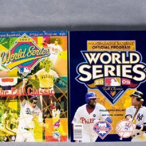Collection of 4 World Series Programs (1982, '84, '97 & 2009)