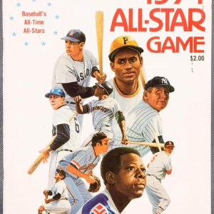 1974 All-Star Game Program w/2 Tickets (Unscored)