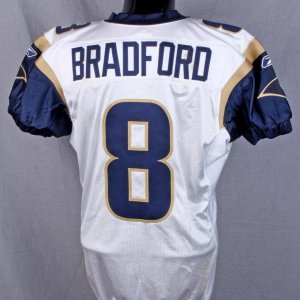 Sam Bradford 2010 Rams Game-Worn-Used vs Raidars(WK 2 )  9/19/10 8/26/10 vs Patriots 8/21/10 Browns Preseason