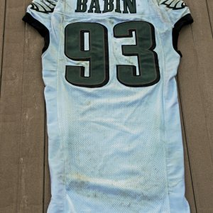 2012 Philadelphia Eagles - Jason Babin Game-Worn Jersey (NFL Auctions COA)