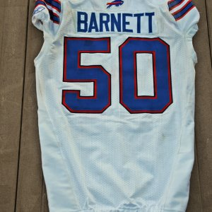 2011 Buffalo Bills - Nick Barnett Game-Worn Jersey NFL Auctions Certificate