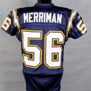 2006 Chargers Shawn Merriman Game-Worn  Pre-Season Home Jersey vs Sea Hawks w/Photo Match
