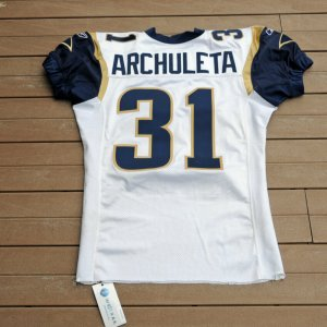 2003 St. Louis Rams - Adam Archuletta  Game-Worn Jersey (Wetrack)