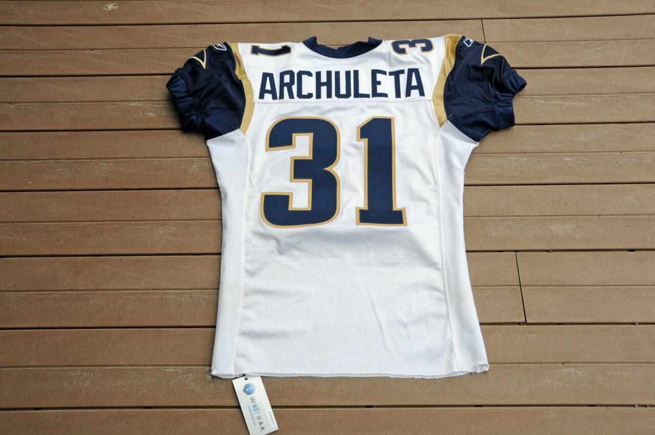 2003 St. Louis Rams - Adam Archuletta  Game-Worn Jersey (Wetrack)