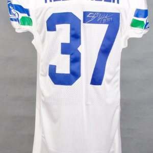 2001 Seahawks  Shaun Alexander White Game-Worn Jersey