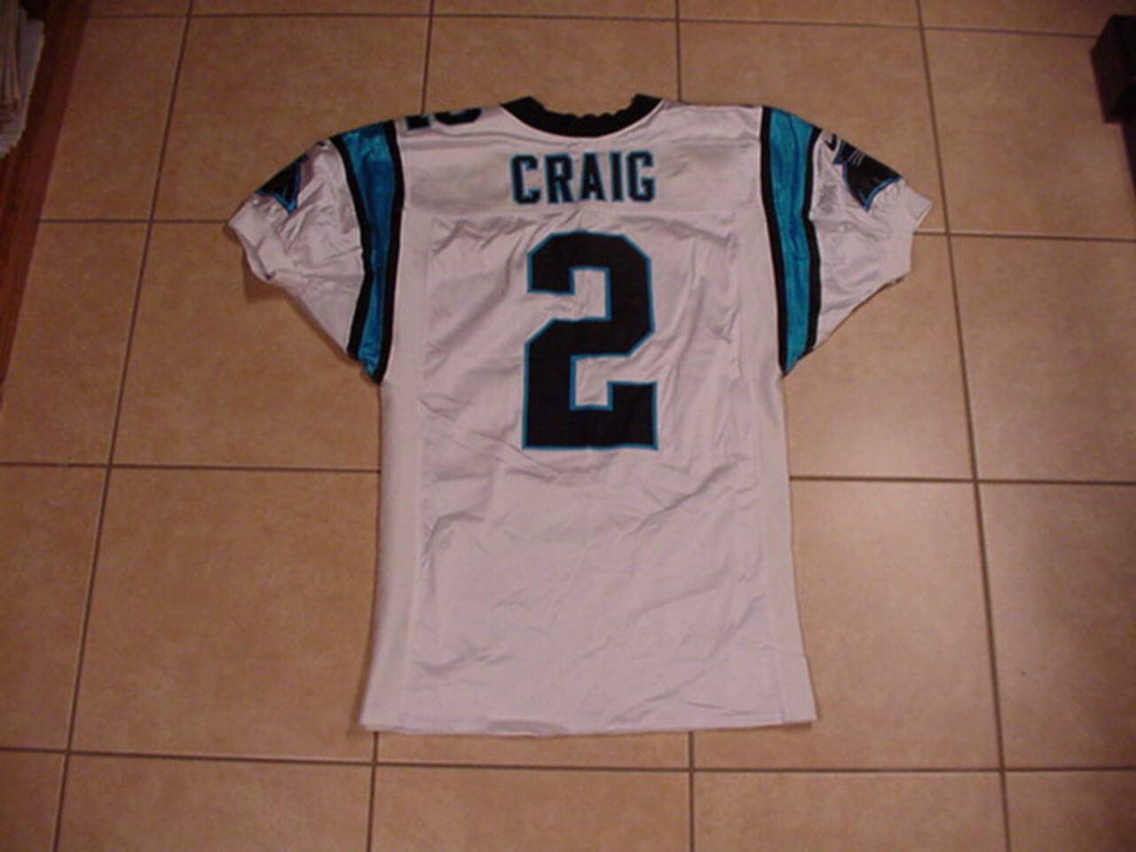 2000 Carolina Panthers - Dameyune Craig Game-Worn Jersey Team Letter