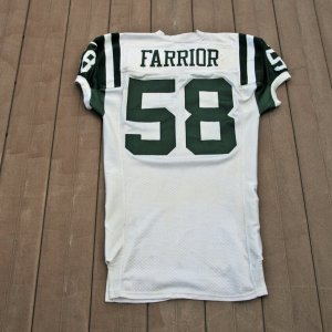 1999 New York Jets James Farrior Game-Worn Jersey