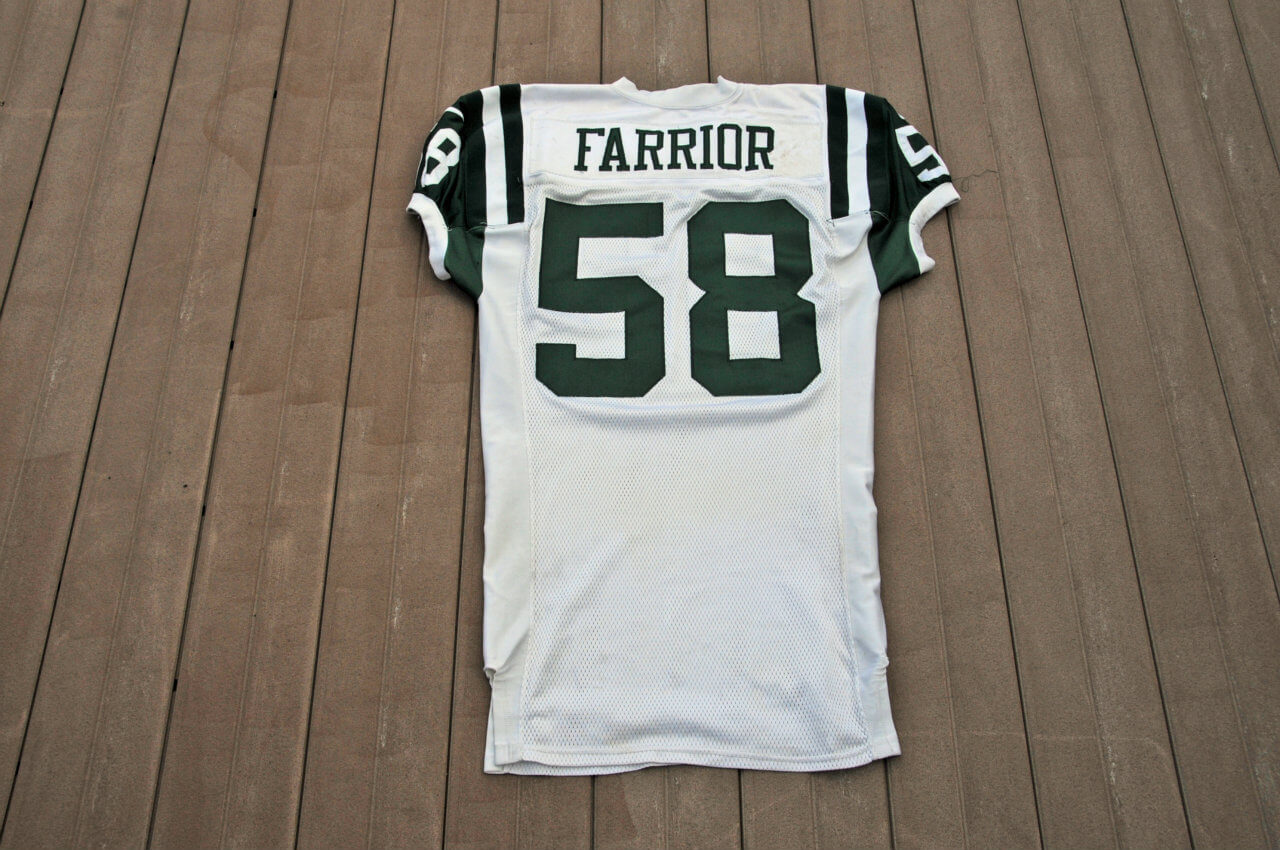 1999 New York Jets James Farrior Game-Worn Jersey