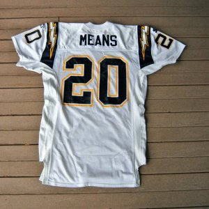 1995 San Diego Chargers Natrone Means Game-Used Jersey