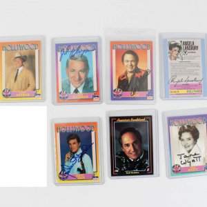 Hollywood Starline Cards Signed - Bob Hope, Jane Wyatt, Robert Stack & 5 Others