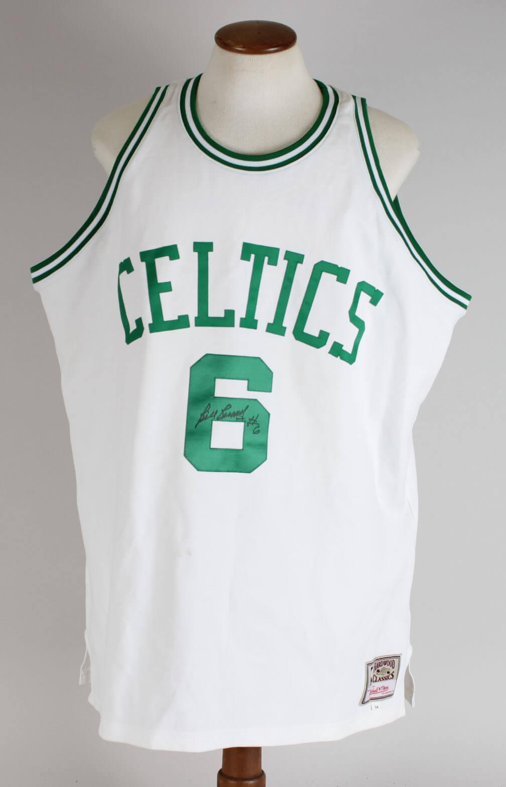 new styles a103c a5de2 Bill Russell Signed Jersey Celtics - COA JSA