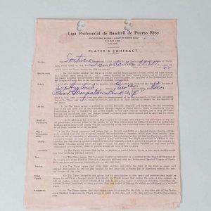 10/10/50-Negro Leagues- James Gilliam Signed Baseball Contract - JSA Full LOA