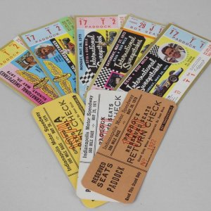 1970s Indianapolis Indy 500 Ticket Stubs & Return Checks Lot / Collection of 8 Feat. Al Unser