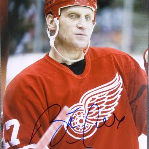 Detroit Red Wings - Brett Hull Signed 8x10 Photo (Signed at Las Vegas Event) Holo 7050