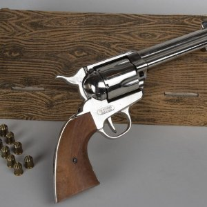 Stunt Prop Gun Revolver Used In Western Films Movies w/Blanks