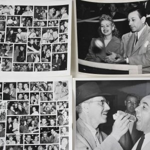 2 Vintage Proof Sheets Celebrity Layouts & Two 8x10 B&W Photos