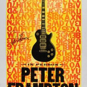 Peter Frampton Signed Poster (PSA/DNA COA)