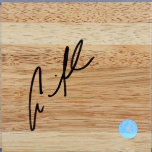 Andre Iguodala 76ers Signed Wood Floor Player's Hologram & Letter