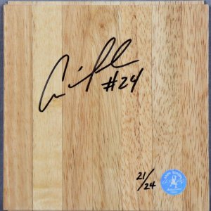 Andre Iguodala 76ers Signed Insribed # 24 Wood Floor Player's Hologram & Letter