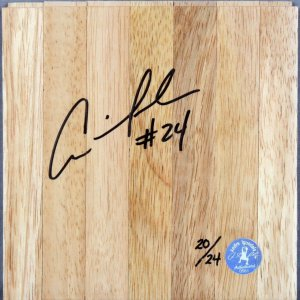 Golden State Warriors - Andre Iguodala Signed Wood Basketball Floor (Player's Hologram & COA)