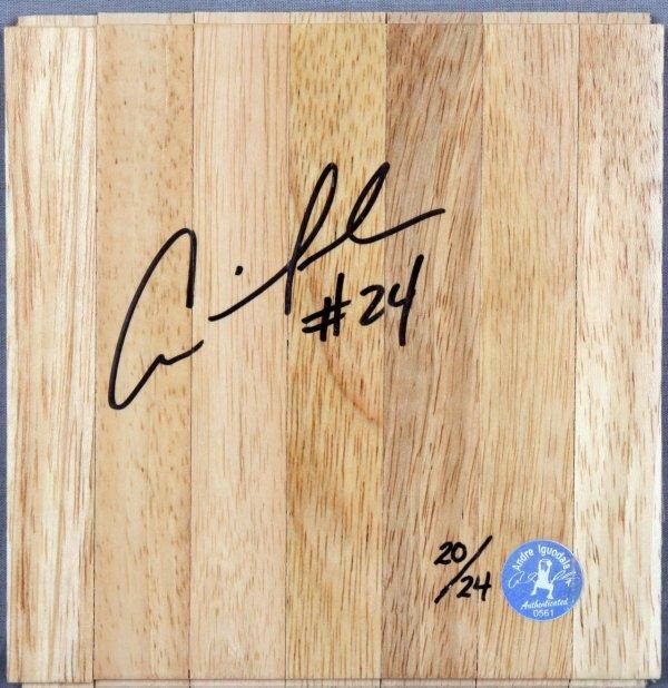 Golden State Warriors - Andre Iguodala Signed Wood Basketball Floor (Player's Hologram & COA)