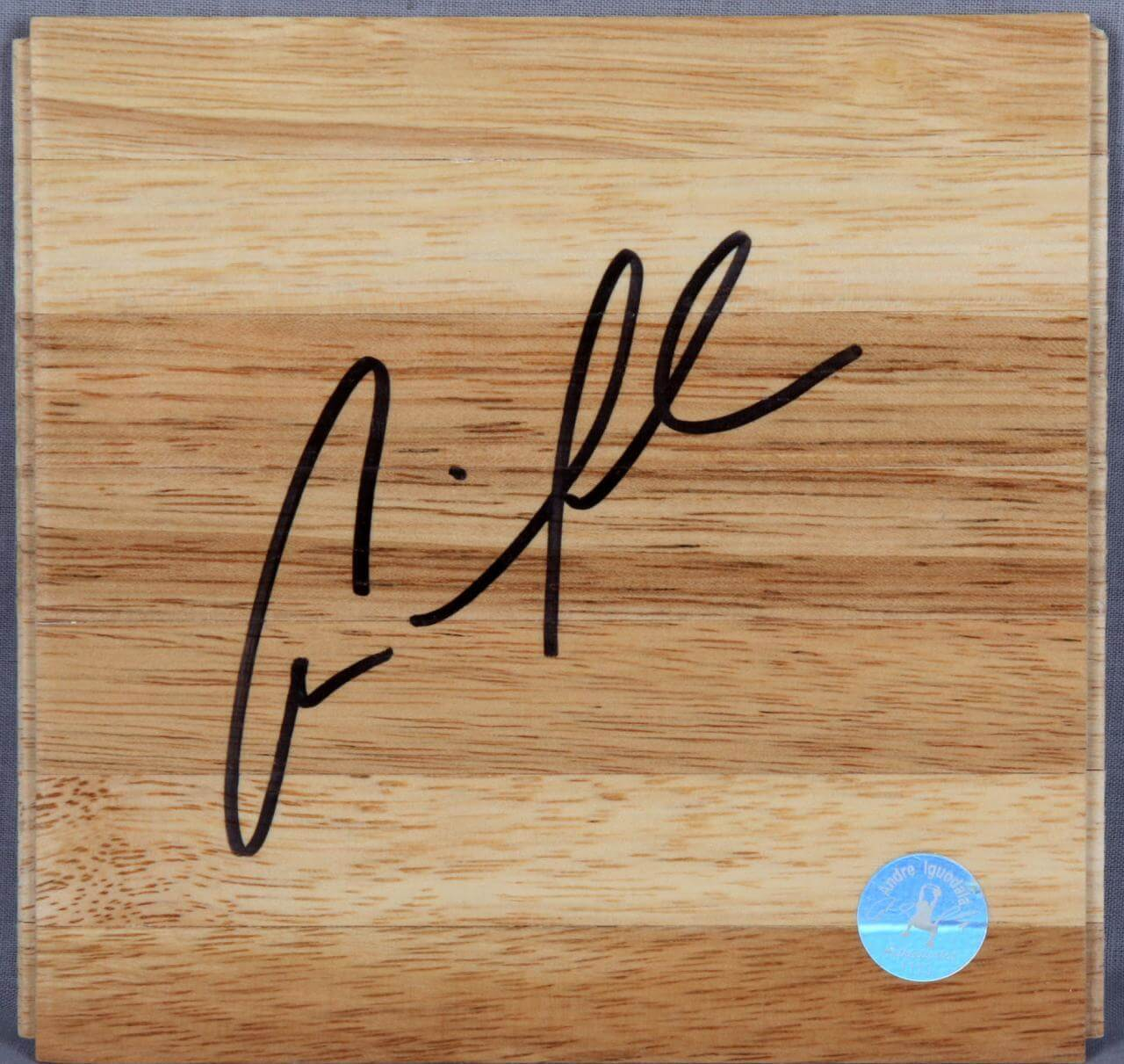 Andre Iguodala 76ers Signed  Wood Floor Player's Hologram & Letter
