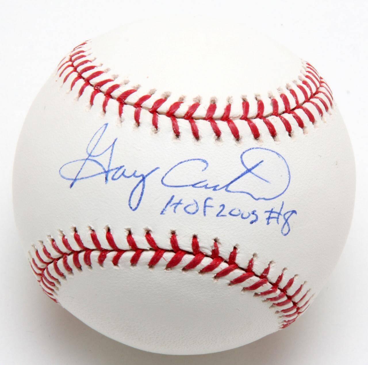 Mets Gary Carter Signed Baseball Inscribed HOF 2003 JSA