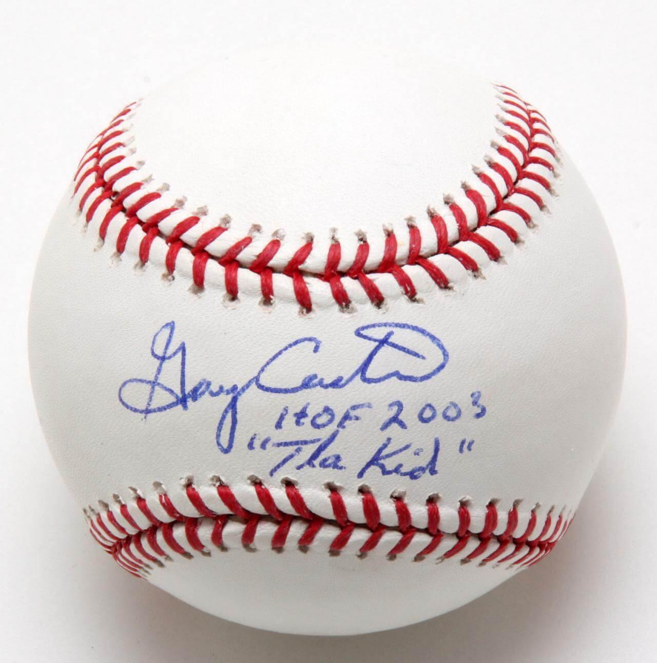"Gary Carter Autographed JSA ""HOF 2003 'The Kid' "" Mint Condition"