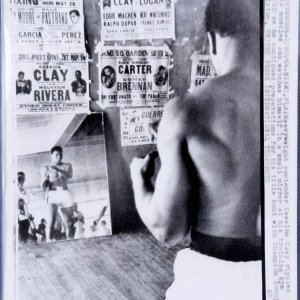 Vintage 1964 Cassius Clay (aka. Muhammad Ali) UPI Wire Photo Taken at 5TH Street Gym in Miami