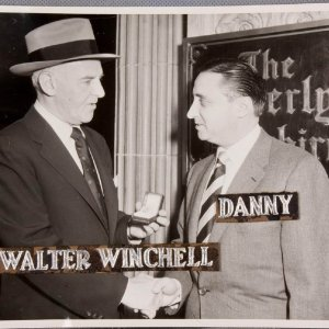 Walter Winchell Signed Letter and Original 8x10 Photo - (Danny Goodman Collection)