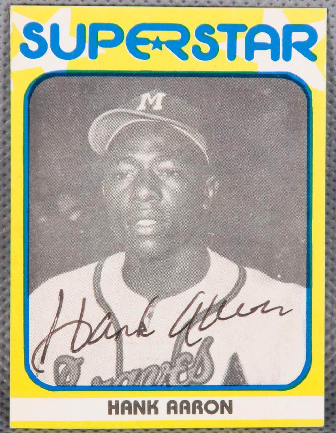 Hank Aaron Super Star Signed Card