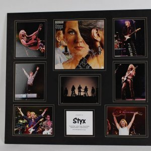 Styx Band Signed Album Cover Photo Display COA GAI