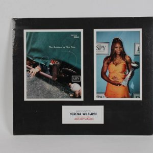 Tennis Star- Serena Williams Signed Photo 16x18 Matted Display - COA GAI