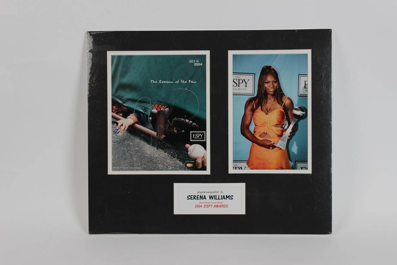 Serena Williams Signed Photo Matted Display - COA GAI