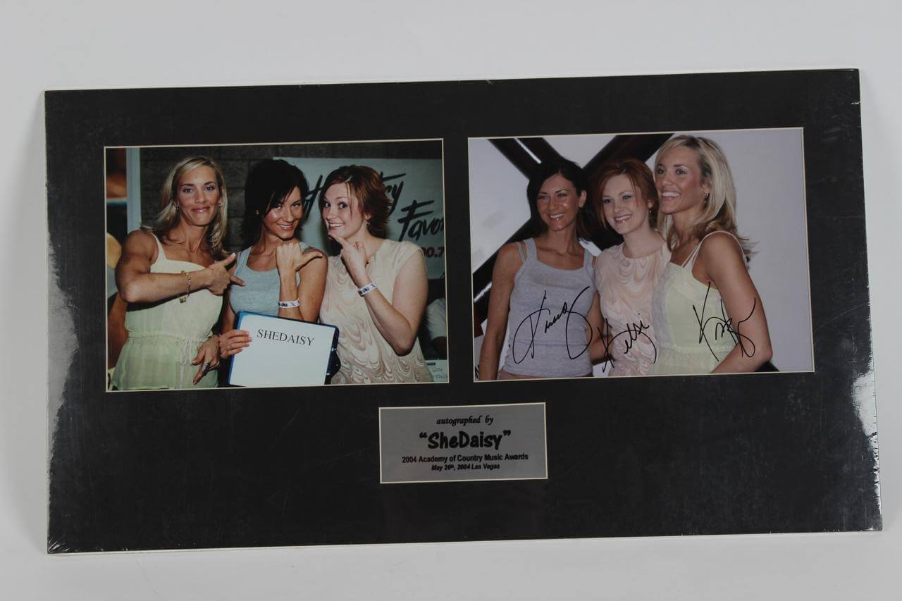 SheDaisy Autographed 16x18 Matted Photo Display - COA GAI